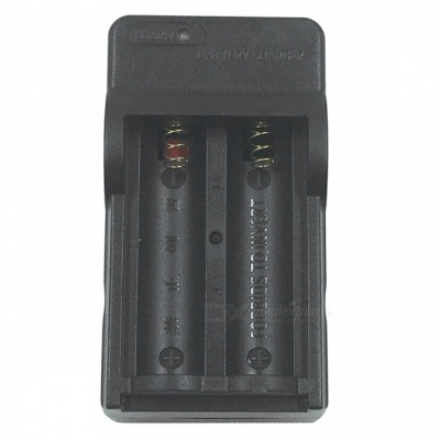 SZFC US Plugs 14500 Lithium Battery Dual Slot Charger - Black