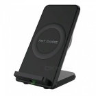 Mindzo Fast Quick Charge Wireless Qi Charger Charging Stand - Black
