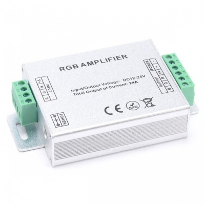 BRG LED RGB Controller RF Amplifier 288W Dimmer Controller - Silver