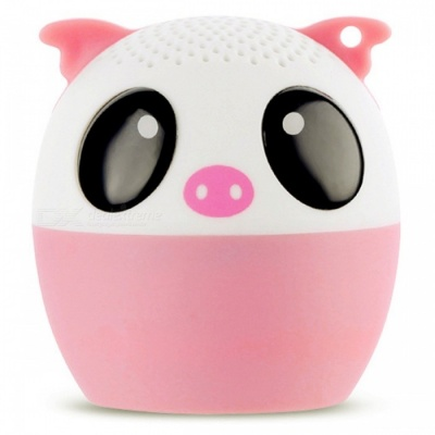 LIWEEK Mini Adorable Pig Shape Cartoon Bluetooth Self-timer Speaker