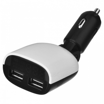 BSTUO Portable 3.4A Dual USB Car Charger with LED Display