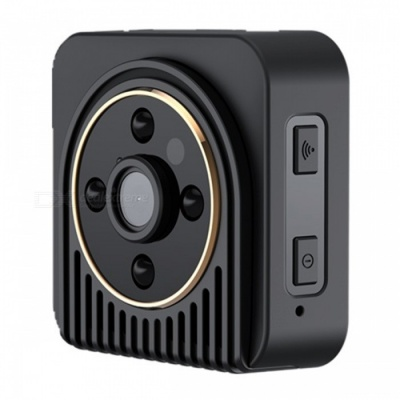 H5 Wide Angle Wi-Fi Sport Action Camera with IR Night Vision - Black