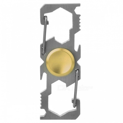 Multifunction Buckle Bottle Opener Fingertip Spinner - Champagne Gold