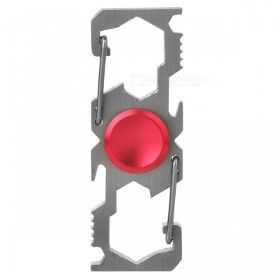Multifunction Climbing Buckle Bottle Opener Fingertip Spinner - Red