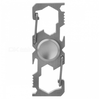 Multifunction Climbing Buckle Bottle Opener Fingertip Spinner - Grey