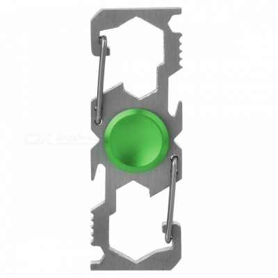 Multifunction Climbing Buckle Bottle Opener Fingertip Spinner - Green