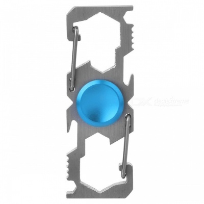 Multifunction Climbing Buckle Bottle Opener Fingertip Spinner - Blue