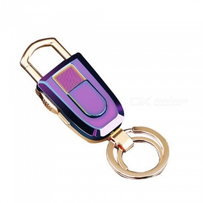 ZHAOYAO M2 USB Rechargeable Cigarette Lighter Keychain - Colorful