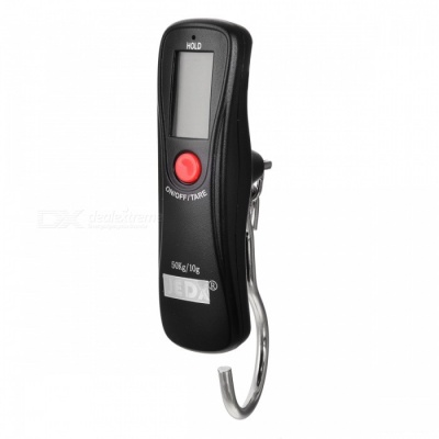 JEDX Green Backlight Electronic Handheld Hanging Luggage Scale - Black