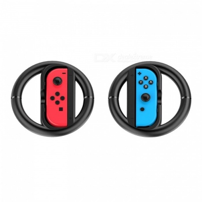 GameWill Joy-Con Wheels for Nintendo Switch Controller - Black (2PCS)