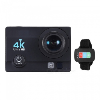 "32GB 2"" HD LCD Screen 4K 30fps 16MP Wi-Fi Sports Action Camera - Black"