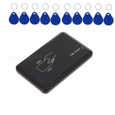 Contactless 125KHz EM Proximity RFID Card Reader with 10Pcs ID Cards