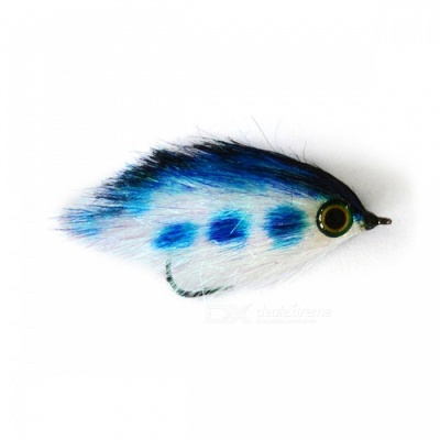 JR-0002 55mm Insect Fly Artificial Fishing Bait Lure - Blue