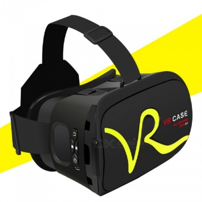 "RK-A1 VR 3D Glasses for 4""~5.8"" Mobile Phones - Yellow"