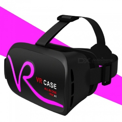 "RK-A1 VR 3D Glasses for 4""~5.8"" Mobile Phones - Deep Pink"