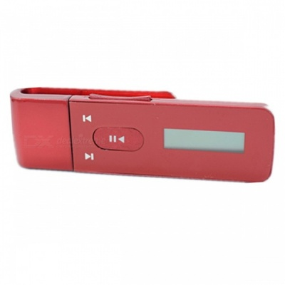KELIMA 8GB Clip-On HIFI MP3 Music Player for Sports Exercise - Red