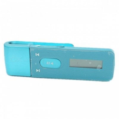 KELIMA 8GB Clip-On HIFI MP3 Music Player for Sports Exercise - Blue