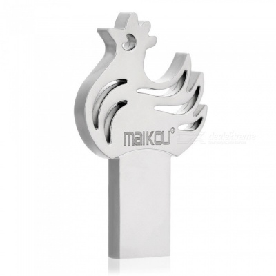 Maikou Cock Style USB 2.0 Flash Memory Drive - Silver (16GB)