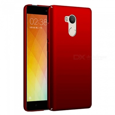 Naxtop PC Hard Protective Back Case for Xiaomi Redmi 4 - Red