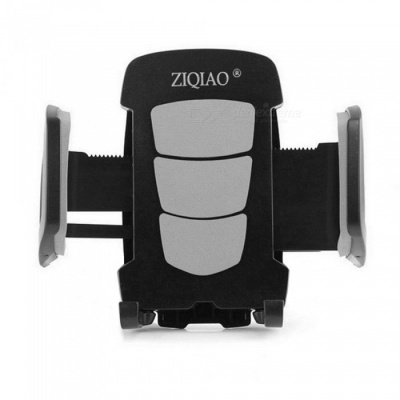 ZIQIAO Rotatable Car Air Vent Mount GPS Phone Bracket - Grey