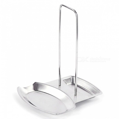 Stainless Steel Pot Rack Kitchen Supplies Pot Cover Holder - Silver