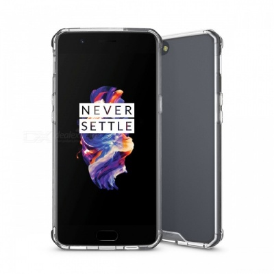 Shock-proof Protection Back Case for Oneplus 5 - Translucent White