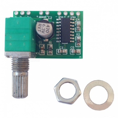 Mini 5V Digital Power Amplifier Board with Switch Potentiometer