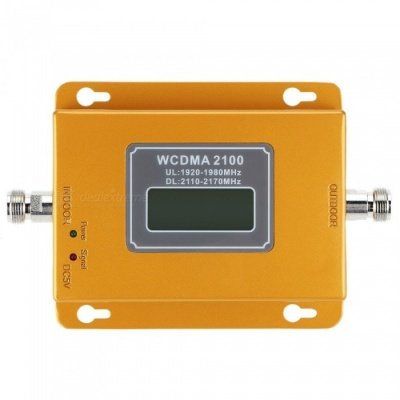W-CDMA 2100MHz LCD 3G Mobile Phone Signal Booster Repeater - Golden
