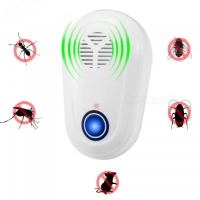 Electronic Ultrasonic Mosquito Rat Pest Repeller with LED Light