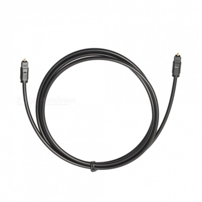 Kitbon 6.6ft OD4.0 Digital Optical Audio Toslink Cable - Black (2m)