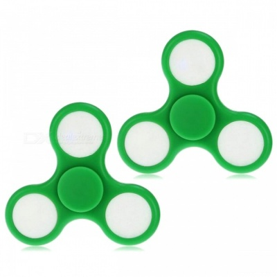 E-SMARTER Colorful Luminous Stress Relief Spinner Toys - Green (2 PCS)