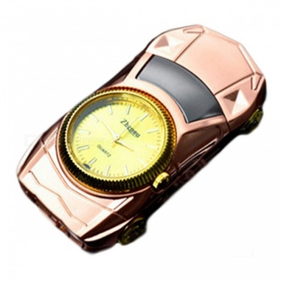 ZHAOYAO Car Shaped USB Cigarette Lighter Watch - Rose Gold