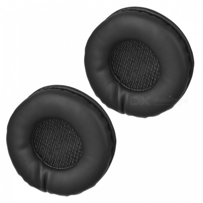 Premium Soft Sponge 72mm Headphone Sleeves - Black