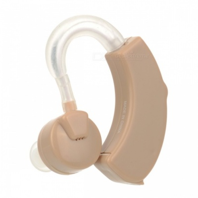 Mini Portable Ear-Hook Type Hearing Aid - Brown