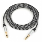 Nylon Braided 3.5mm Jack AUX Audio Cable - White (1m)