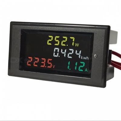 4-in-1 HD Digital A 80-300V 100A LED Display Panel Voltmeter Meter