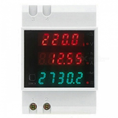 AC 80-300V 100A Digital LED Display Voltage Current Meters - White