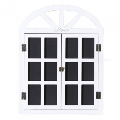 Black Board Message Board Window Shape Vintage Wall Decoration - White