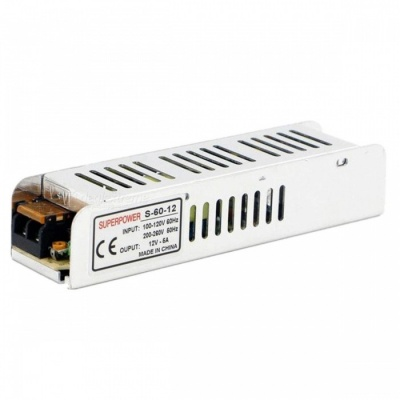 SPO 12V 5A 60W LED Long Strip Switching Power Supply