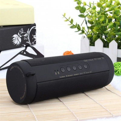 Waterproof Bicycle Wireless Bluetooth Speakers Support TF FM - Black