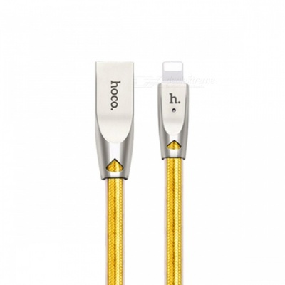 HOCO Zinc Alloy Jelly Knitted Charging Cable for IPHONE Apple - Golden