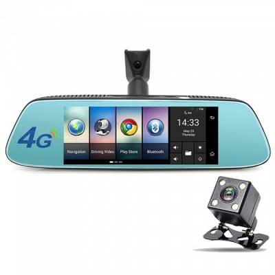 Junsun 1080P 4G Android 5.1 Rearview Mirror Car DVR Camera with GPS