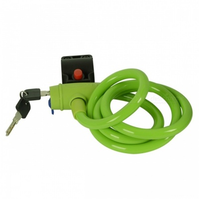 CARKING Bike Coil Security Lock Cable Chain with Two Keys - Green