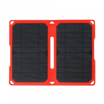 High Efficiency 14W 5V 2.8A Dual USB Output ETFE Folding Solar Charger