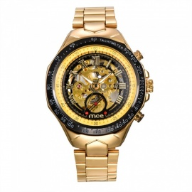 MCE Mechanical Watch Hollow Out Wristwatch - Golden