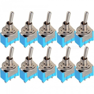 Mini MTS-102 3-Pin SPDT ON-ON 6A 125VAC Miniature Toggle Switches