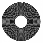 Rubber Edge Doors Protection Car Styling Strips Moldings - Black (8m)