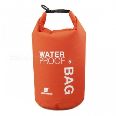 5L Outdoor Sports Rafting Waterproof Storage Bag - Orange