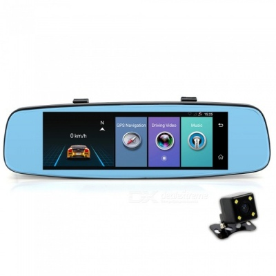 "Junsun 4G GPS ADAS 7.86"" Android 5.1 Rearview Mirror Car DVR"
