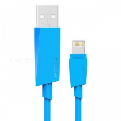 ROCK MFI Lightning to USB 2.1A Fast Charging Cable - Blue (1m)